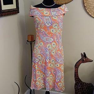 Lauren Ralph Lauren Orange Paisley Dress
